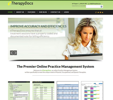 eTherapyDocs New Store Front page